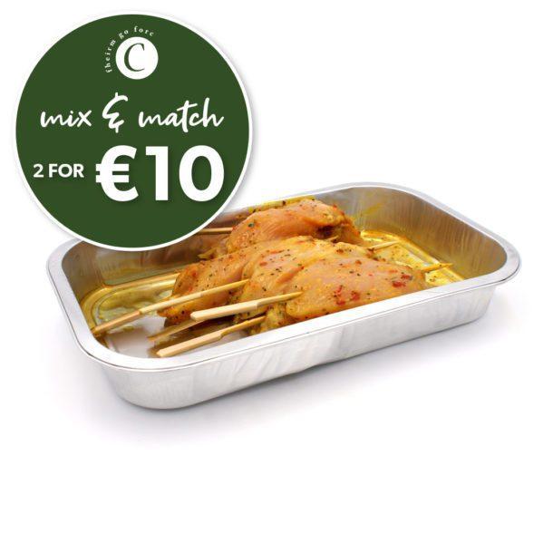 Corrigans-8 garlic Chicken Skewers